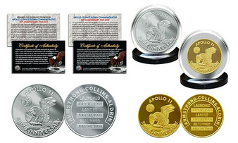 Apollo 11 50th Anniversary Man in Space Medals Commemorative 2 Coin Set