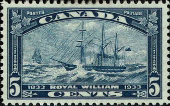 "Canada 1933 ""Steamship Royal William"" 5 Cent Stamp #204 MNH"