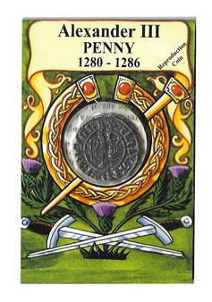 Alexander III 1280-1286 AD Penny Replica Coin