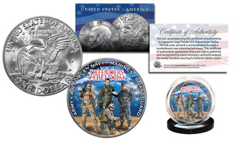 Defenders Of Freedom U.S. Armed Forces Colorized Eisenhower Dollar