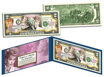 Lucy 100th Birthday Commemorative Colorized $2 Bill