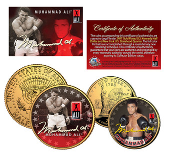 Honoring Muhammad Ali - 2 Coin Set