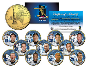 2009 Yankee Stadium Inaugural Season World Champions 11 Coin Set