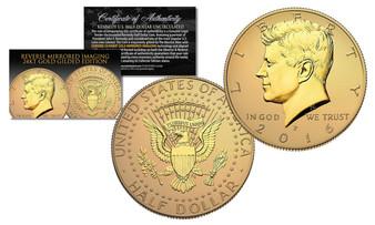 2016 JFK Reverse Mirror Imaging 24K Gold Issue