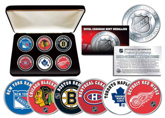 NHL Original Six Canadian Medallion Set with Case