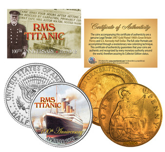 The Titanic 100th Anniversary US & UK 2 Coin Set #2