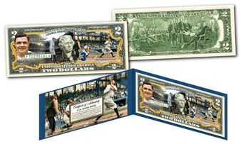 Babe Ruth NY Yankees Sultan Of Swat Commemorative Colorized $2 Bill