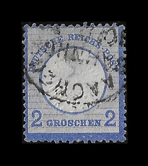 1872 #20 Large Shield 2 Groschen Cancelled