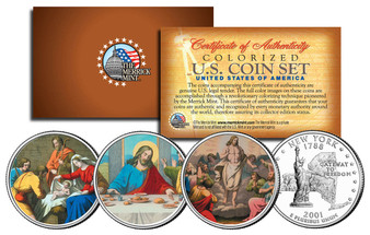 Jesus Colorized New York State Quarter 3 Coin Set
