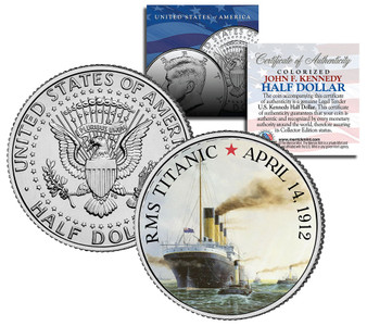 Titanic And Tugboat JFK Half Dollar