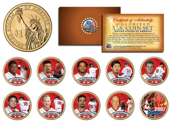 2007 Boston Red Sox Champions 10 Coin Set Presidential Dollars