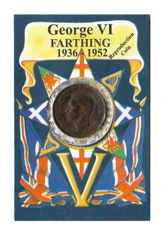 George VI 1936-1952 Farthing Replica Coin