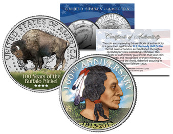 Buffalo Nickel 100th Anniversary JFK Half Dollar