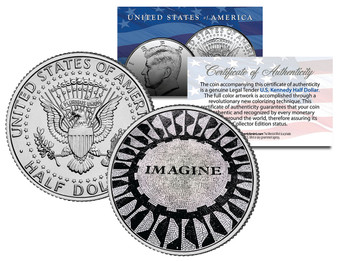 Imagine John Lennon JFK Half Dollar