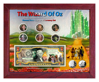 "The Wizard Of Oz Colorized Coin & Currency Set in 8"" x 10"" Frame"