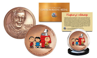Colorized Charles M. Schulz Congressional Commemorative Medal