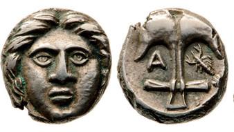 Ancient Greek Thrace Silver Diabol Apollonia Pontica 400 BCE