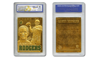 2008 Aaron Rodgers 23K Gold Sculptured Card Graded Gem Mint 10