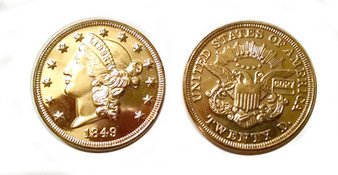 Double Eagle 1849 24K Gold-Plated Replica Coin