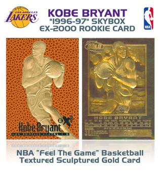 Kobe Bryant SkyBox EX-2000 Rookie 23K Gold Sculptured Card