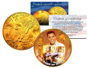 Elvis Life And Times 24K Gold Plated Ike Dollar