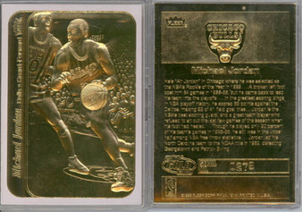 1986 Michael Jordan Fleer Rookie 23K Gold Sculptured Card