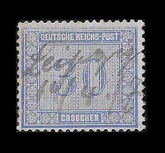 1872 #13 Regular Issue 30 Groschen Hand Cancelled #1