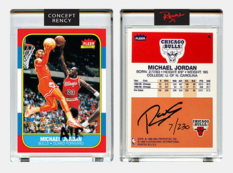 "Rency Art Jordan 1996 Fleer Rookie Card ""Reverse Dunk"" Signed Limited Edition of 230"