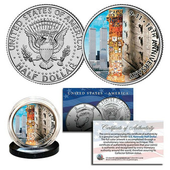 2019 World Trade Center 9/11 18th Anniversary Colorized JFK Half Dollar