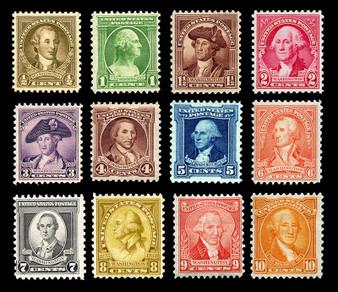 1932 Washington Bicentennial Set #704-715 MNH