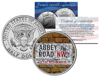 Abbey Road Sign JFK Half Dollar