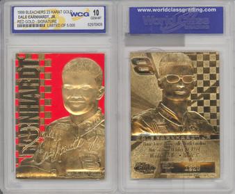 Dale Earnhardt Jr. Gold Signature 23K Gold Sculptured Card Graded Gem Mint 10