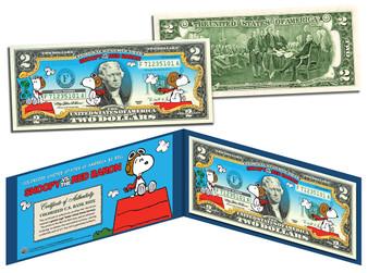 Snoopy vs. the Red Baron Commemorative $2 Bill