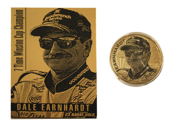 Dale Earnhardt Sr. 2001 American Silver Eagle & Gold Card Set