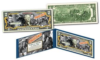 John Wayne 1939 Stagecoach Film Commemorative Colorized $2 Bill