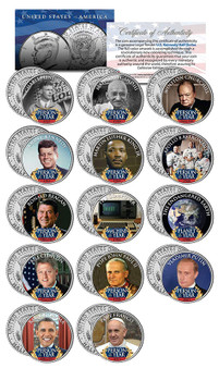 Persons Of The Year 14 JFK Half Dollar Coin Set