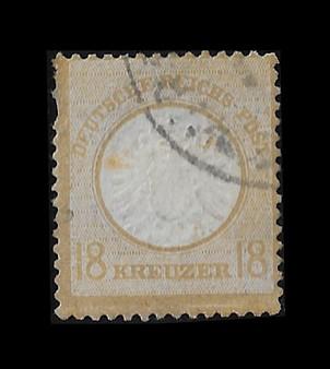 1872 #28 Large Shield 18 Kreuzer Rare Cancelled