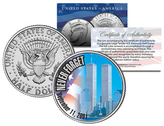 2001 WTC 9/11 *Original Design* JFK Half Dollar