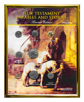 """New Testament Parables & Stories Historical Replica Set in 8"""" x 10"""" Frame"""