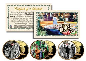 Wizard of Oz Movie Scenes 3 Coin Set