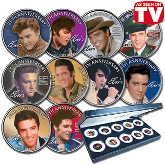 25th Anniversary of Elvis Presley 10 Coin Set