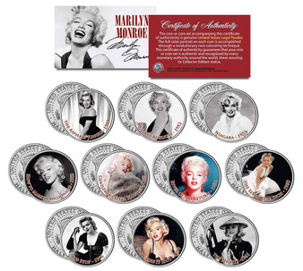 Marilyn Monroe Movies JFK Half Dollar Collection