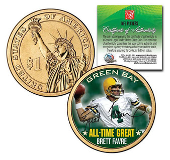Brett Favre All-Time-Great Presidential Dollar