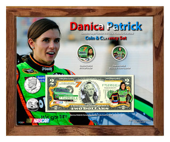 """Danica Patrick Colorized Coin & Currency Set in 8"""" x 10"""" Frame"""
