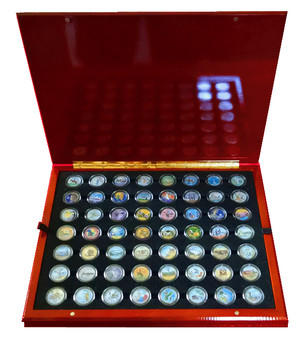 Colorized State Quarter Collection 1999-2009 in Heirloom Case