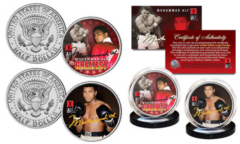 "Muhammad Ali ""The Greatest"" 2 Coin JFK Set"