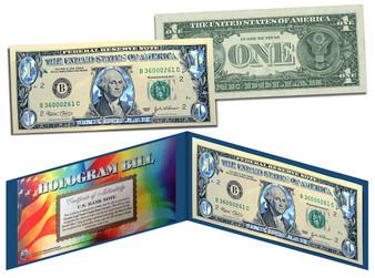 Hologram Silver Diamond Crackle $1 Bill