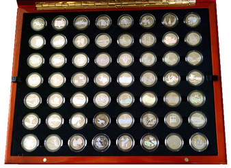 Hologram State Quarter Collection 1999-2009 in Heirloom Case