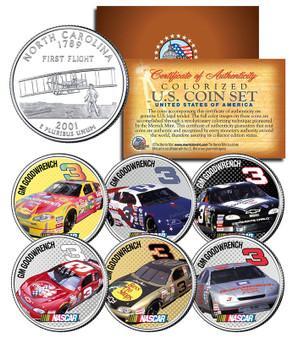 Dale Earnhardt NASCAR Race Cars 6 Coin Set
