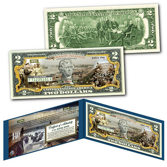 D-Day Normandy Landings 75th Anniversary Commemorative Colorized $2 Bill